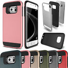 Slim Brushed Shockproof Hybrid Hard Case Cover For Galaxy S3 S4 S5 S6 S7 Edge