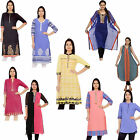 Indian Cotton Ladies Long Kurti Kurta Ethnic Designer Pakistani Women Top Tunic