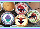 24 PERSONALISED SPIDERMAN DESIGN 1 CUPCAKE TOPPER RICE, WAFER or ICING
