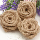Handmade Burlap Roses Linen Roses for Rustic Country Chic Wedding Decorations