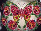 New NWT CHRISTIAN AUDIGIER DOUBLE PLATINUM  WOMENS BUTTERFLY HOODIE W/STONES