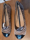 ANNE MICHELLE TAN ZEBRA PONEY FLAT BALLERINA SHOES  BNIB  VARIOUS SIZES