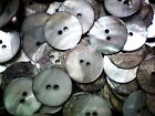 20mm 32L Warm Agoya Shell Pearlescent Natural 2 Hole Sewing Craft Buttons (W208)