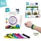 Set of 4 Bracelets Mosquito repellent Silicone Scent Lemongrass Duration 2 weeks