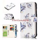 Emboss Butterfly FLY 9 Card Slots Wallet Stand Cover Case for iPhone Samsung LG