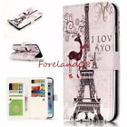 Emboss Deer Eiffel Love Paris Wallet Stand Card Slot Case for Samsung iPhone LG