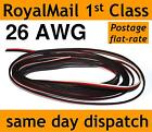 Servo Wire Cable flat Black Red White 26AWG JR Spektrum Futaba extension meter