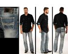 Rock N Roll Cowboy Double Barrel Relaxed Straight Leg Jeans M0S3181