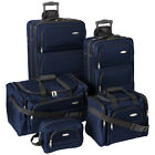"Samsonite 5 Piece Nested Luggage Suitcase Set, 25"" 20"" More (Black, Navy, Red)"