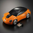 Wireless Optical Car Shaped 2.4GHz Mouse Mice+2.0 USB Receiver For PC Laptop