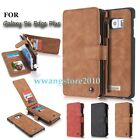 Luxury Genuine Leather Zipper Wallet Case Cover for Samsung Galaxy S6 Edge Plus