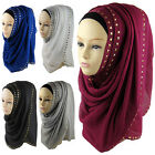 Women's New Muslim Hijab Rivet Islamic Scarf Shawl Head Wear Hat Sell In Crowds