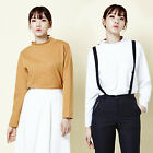 2NEFIT Korea Women's Fashion Long Sleeve Clothes Mini Turtle T Shirts Top T-020