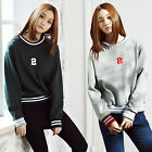 2NEFIT Korea Women's Clothes Long Sleeve Rip Mtm Top Sweat Shirts T-021 S M
