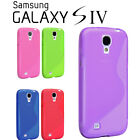 BRAND NEW CLEAR S-LINE GEL CASE COVER FOR SAMSUNG GALAXY S4 i9500
