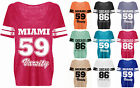 Womens Burnout T Shirt Ladies Loose Jersey Tee Varsity Baseball 86 Top Plus 8-22