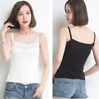Women Sexy Sleeveless Super Soft Lace Hollow Slim Straps Top Vest T-Shirt