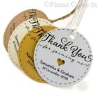 Personalised Round Thank you for Joining Us Wedding Favour Tags Gift Tags