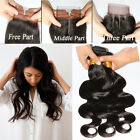 3pcs Human Hair Bundles 150g With Lace Closures Unprocessed Human hair 6A