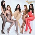 woman sexy sheer bodystocking Wipe the corset Shiny pantyhose female Tcrotch  ]