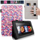 For Amazon Kindle Fire HD 7 Inch 2012 Hand Strap PU Leather Card Slot Stand Case