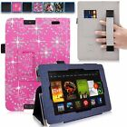 For Amazon Kindle Fire HD 7 Inch 2013 Hand Strap PU Leather Card Slot Stand Case