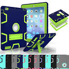 Hybrid Rubber Shockproof Protective Case Cover For iPad 234 Mini 1234 Pro Air 2