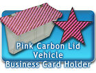 Pink Carbon Outside Vehicle Business Card Holders camouflage truck car auto