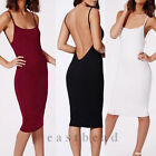 Simple Fashion Sexy Backless Strap Bodycon Dress Party Cocktail Club Dresses