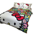 New 2016 Hello Kitty Bedding Set 4pc Queen King Bed Cotton RARE