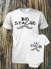 father and son t-shirts mustache big stache lil boys dad daddy combo xl 2xl 3xl