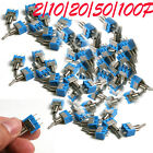 20/10/50/100Pcs AC 125V 6A ON-ON SMTS-102 3 Pin Latching Micro Toggle Switch