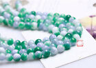 0029 Natural chalcedony gems scattered beads round beads strand