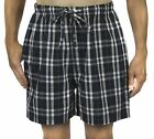 Leisureland Men's Cotton Poplin  Pajama Lounge Sleep Boxer Shorts Plaid