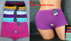 Lot 1 6 OR 12 pc Quality Comfort Plain Cotton Spandex Boyshorts Panty S/M/L/XL