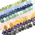 14x20mm Faceted Natural Gemstone Nugget Beads 7.5""