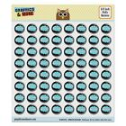 Dreaming of Billiards Blue Puffy Bubble Dome Scrapbooking Crafting Stickers $5.99 USD