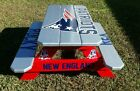 New England Patriots  NFL Themed Wood Picnic Table Bbq Patio Furniture