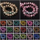 Внешний вид - Wholesale Crystal Glass Faceted Rondelle Loose Spacer Beads 4mm 6mm 8mm 10mm