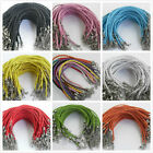 10pcs/100pcs braid rope man-made leather bracelet 19cm New