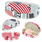SA106 Womens USA Flag Newsprint Pattern Large Clam Shell Sunglasses