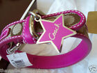 NEW COACH SOLD OUT  PINK STAR SIGNATURE  LARGE DOG COLLAR L 61354