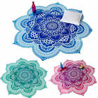 Hippie Indian Mandala Tapestry Beach Floral Towel Ombre Blanket Cover Up Decors