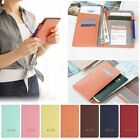 Multi-functional PU Travel Passport Cover Card Holder Wallet Business Documents