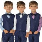 Boys Indigo Waistcoat Suit, Page Boy Suits, Boys blue suits, 3 months - 8years