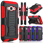 Hybrid Rubber Armor Holster Belt Clip Case for Samsung Galaxy Grand / J2 Prime