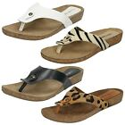 Womens Leather Collection Toe Post Sandals