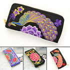 best selling Women Ethnic Retro Satin Flowers Embroidered Bag Handbag Purse