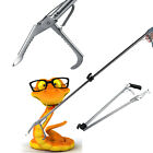 Stainless Steel Snake Reptile Tongs Grabber Catcher Stick Wide Jaw Handling Tool