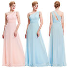 One Shoulder Wedding Bridesmaid Dress Long 8 Sexy Cut-out Slim Formal Dresses 12